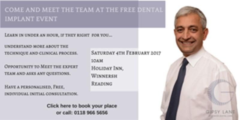 dental implants event banner