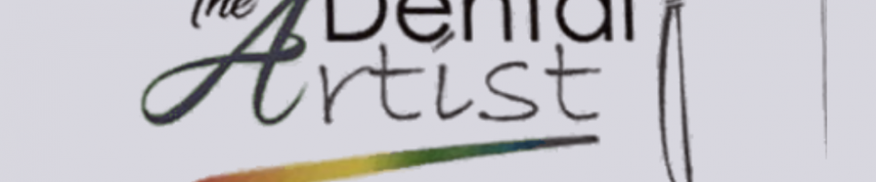 this is a photo of a logo for the dental artist with a paintbrush